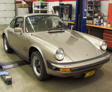 1982 Porsche 911SC: Carrera Oil Cooler Installation