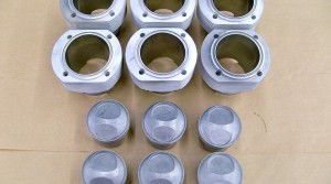 SOLD: 87.5mm Mahle Racing Pistons and Cylinders 10.3:1